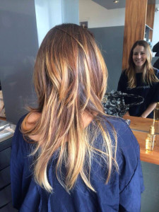 coiffure balayage degrade