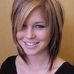 coiffure cheveux mi long degrade effile