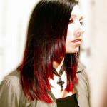 coiffure degrade rouge