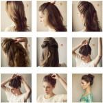 coiffure facile sur cheveux degrade