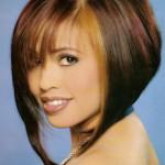 coiffure femme carre plongeant avec frange
