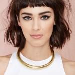 coiffure femme frange courte