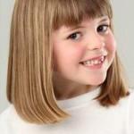 coiffure fillette frange