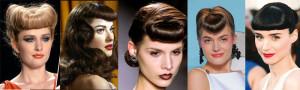 coiffure frange année 50