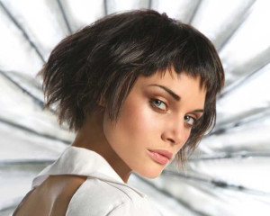 coiffure frange courte dégradée