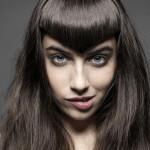 coiffure frange en pointe
