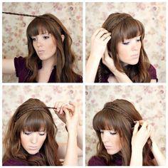 coiffure frange facile