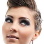 coiffure frange gonflée