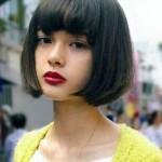 coiffure frange pour visage rond