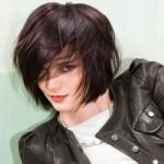coiffure frange rock