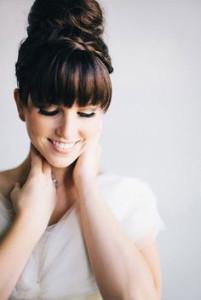 coiffure mariage frange droite