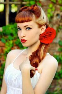 coiffure rétro avec frange