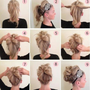 coiffure simple cheveux long degrade
