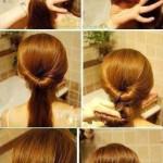 coiffure simple et rapide cheveux degrade
