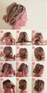 coiffure simple pour cheveux degrade