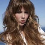 coupe cheveux long degrade effile avec frange