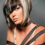 coupe de cheveux au carre plongeant avec frange