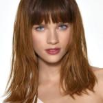 coupe de cheveux carre long et frange