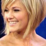 coupe de cheveux carre plongeant blond