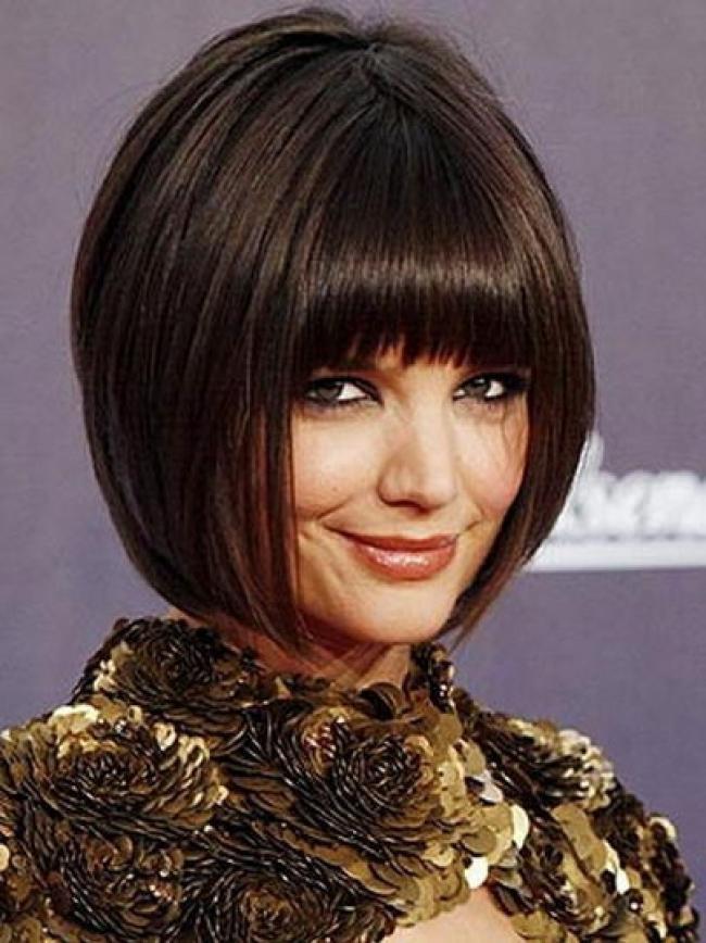 coupe de cheveux femme carre frange