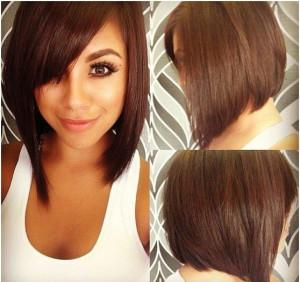 coupe de cheveux femme carre plongeant effile