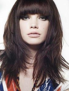 coupe de cheveux fille frange