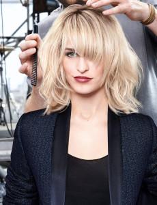 coupe de cheveux frange destructurée