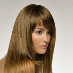 coupe de cheveux frange effilé
