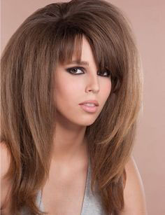 coupe cheveux long degrade frange