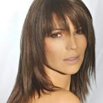coupe de cheveux long degrade avec frange