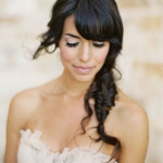 coupe de cheveux mariage avec frange