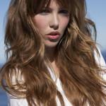 idée coupe de cheveux long avec frange