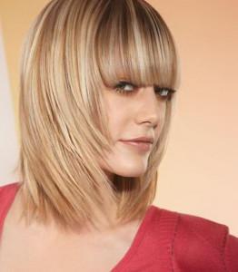 modèle coupe de cheveux mi long avec frange